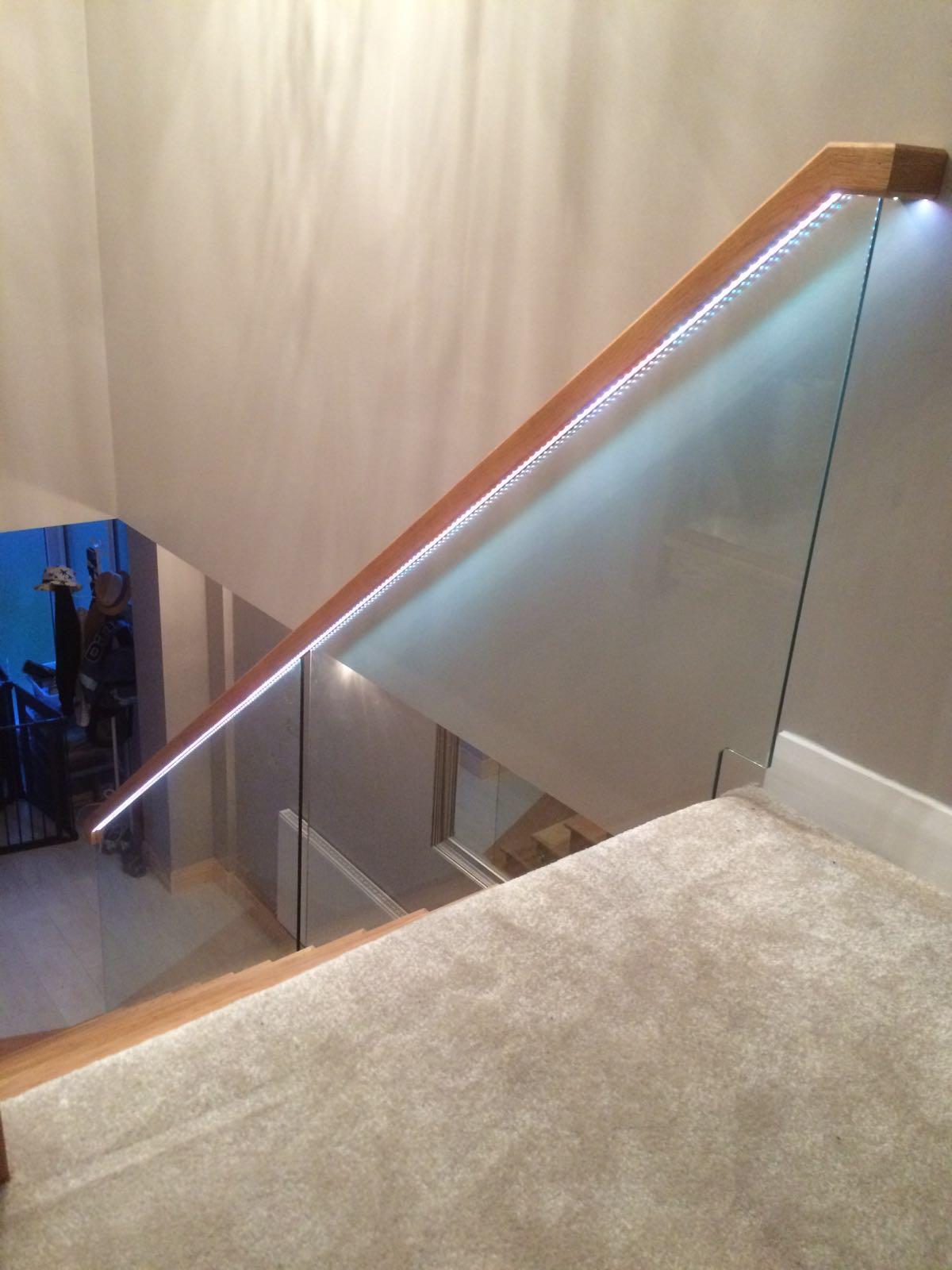 Totally Bespoke Joinery Glass Balustrade